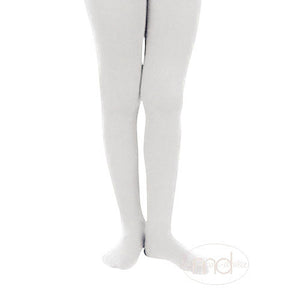 Jefferies Socks Girls Microfiber Tights - White - Madison-Drake Children's Boutique
