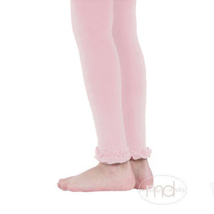 Jefferies Socks Ruffled Footless Tights - Girls Pink Leggings - Madison-Drake Children's Boutique