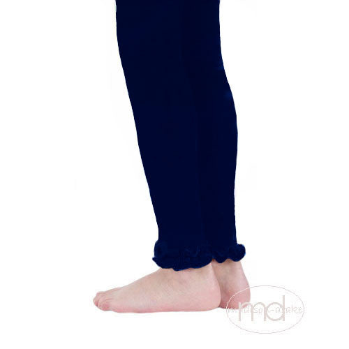 0d314eea217a Jefferies Socks Ruffled Footless Tights - Girls Navy Blue Leggings - Madison -Drake Children s Boutique