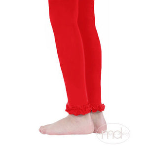Jefferies Socks Ruffled Footless Tights - Girls Red Leggings - Madison-Drake Children's Boutique
