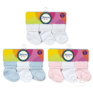 Jefferies Socks Bubble Bootie Baby Socks 6-Pack - Madison-Drake Children's Boutique