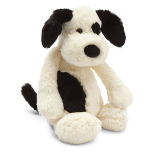 Jellycat® Bashful Black and Cream Puppy - Madison-Drake Children's Boutique