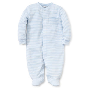 Kissy Kissy Baby Boy's Light Blue Striped Footie Playsuit