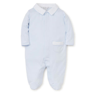 Kissy Kissy Baby Boy's Light Blue New Beginnings Footie with Collar
