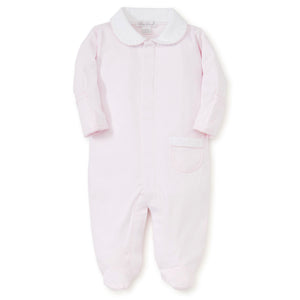 Kissy Kissy Baby Girls Light Pink New Beginnings Footie with Collar