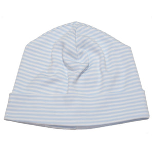 Kissy Kissy Baby Boy's Blue Simple Stripes Hat