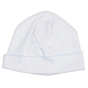 Kissy Kissy Baby Boys Basic Hat - White / Blue - Madison-Drake Children's Boutique