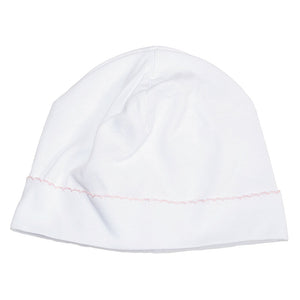 Kissy Kissy Baby Girl's Basic White and Pink Hat