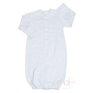 Kissy Kissy Baby Boys Blue Stripes Converter Gown - Madison-Drake Children's Boutique