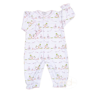 Kissy Kissy Noahs Ark Baby Girls Pink Playsuit - Madison-Drake Children's Boutique