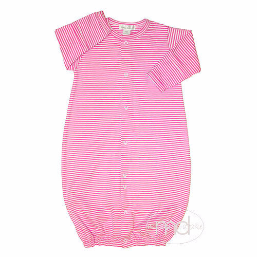 Kissy Kissy Baby Girls Hot Pink Fuchsia Stripe Converter Gown - Madison-Drake Children's Boutique