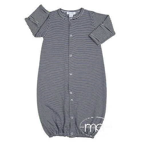 Kissy Kissy Baby Boy\'s Navy Blue Striped Convertible Gown ...