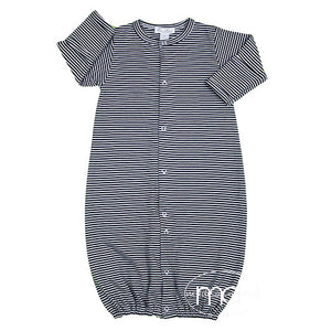 Kissy Kissy Baby Boys Navy Blue Stripes Converter Gown - Madison-Drake Children's Boutique