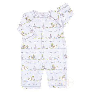 Kissy Kissy Baby Boy's Blue Noah's Ark Print Cotton Playsuit