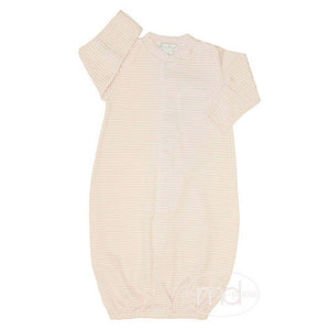 Kissy Kissy Baby Girls Pink Stripes Converter Gown - Madison-Drake Children's Boutique
