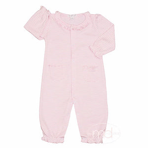 Kissy Kissy Baby Girls Pink Stripe Playsuit - Madison-Drake Children's Boutique