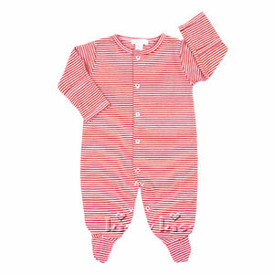 Kissy Kissy Baby Boys / Girls Red Stripe Unisex Footie - Madison-Drake Children's Boutique