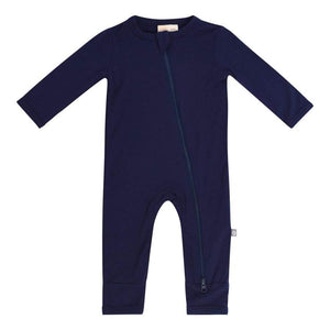 Kyte Baby Boy's Navy Blue Zippered Romper