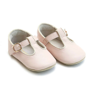 Lamour Baby Girl's Blush Pink Evie Mary Jane Shoes