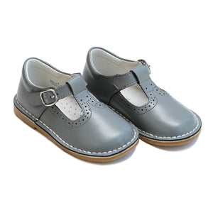 Lamour Little Girl's Frances Grey T-Strap Mary Jane Shoes