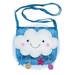 Lily and Momo Cloudy Day Little Girl's Blue Sparkle Purse