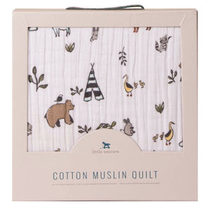 Little Unicorn Forest Friends Cotton Muslin Quilt - Madison-Drake Children's Boutique