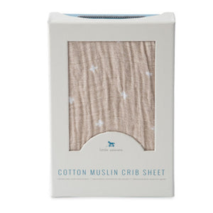 Little Unicorn Taupe Cross Cotton Fitted Crib Sheet - Madison-Drake Children's Boutique