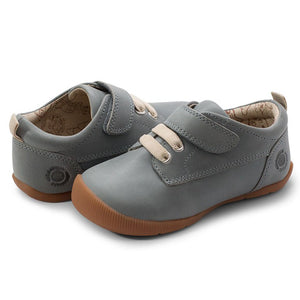 Livie & Luca Boys Swift First Walker Shoes - Faded Denim - Madison-Drake Children's Boutique