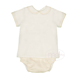 Lullaby Set Natural Linen Baby Boy's Diaper Set