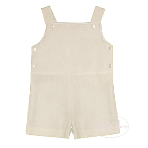 Lullaby Set Natural Linen Boy's Shortall
