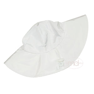 RuffleButts Girls / Boys White Sun Hat - Madison-Drake Children's Boutique