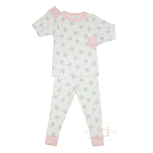 Magnolia Baby Vintage Bow Little Girl's Pajamas