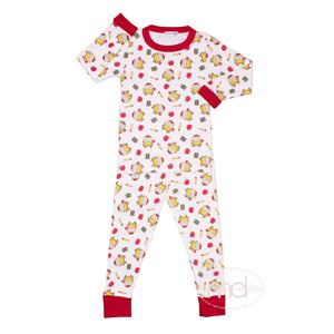 Magnolia Baby Smarty Pants Boy's and Girl's Back to School Pajamas
