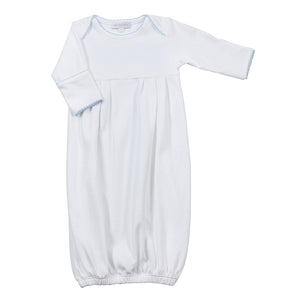 Magnolia Baby Boys White with Blue Gown - Madison-Drake Children's Boutique