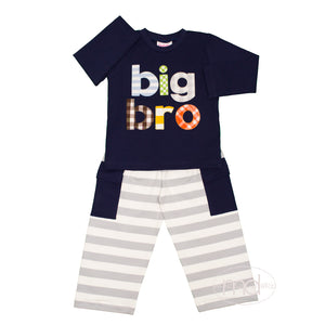 Natalie Grant Big Brother Boys Appliqued Pants Set