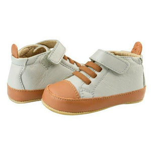 Old Soles Highball Pale Grey and Tan Baby Boy's Shoes
