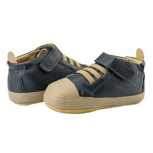 Old Soles Highball Navy Blue and Taupe Baby Boy's Shoes