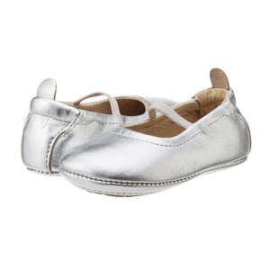Old Soles Silver Luxury Ballet Flat Baby Infant Toddler Girl's Shoes