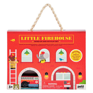 Wind Up and Go Fire Station Play Set