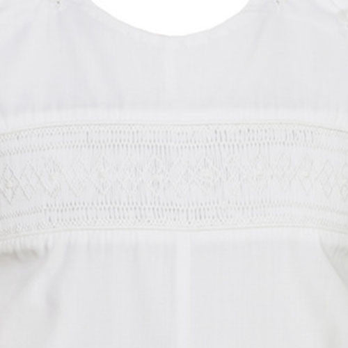 Petit Bebe Ethan Smocked Boys White Jon Jon - Madison-Drake Children's Boutique - 2
