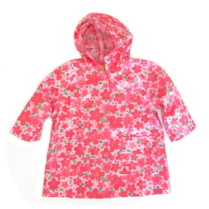 Pluie Pluie Girls Pink Flowers Raincoat - Madison-Drake Children's Boutique