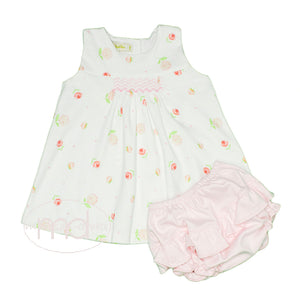 Romantic Roses Baby Girl's Smocked Bloomer Set