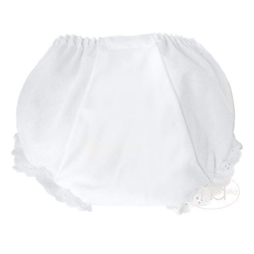 Rosalina Baby Girls White Bloomers - Madison-Drake Children's Boutique - 2