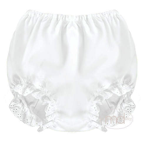 Rosalina Baby Girls White Bloomers - Madison-Drake Children's Boutique - 1