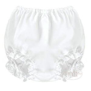 Rosalina Baby Girls White Bloomers - Madison-Drake Children's Boutique