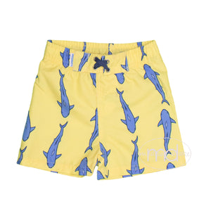 RuggedButts Toddler Boy's Shark Print Jawsome Swim Trunks