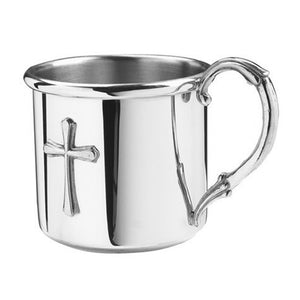 Salisbury Polished Pewter Easton Cross Baby Cup
