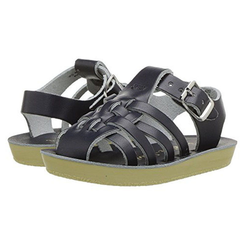 5dfc286f2a143 Sun San Navy Blue Sailor Salt Water Sandals Boy's Shoes - Madison ...