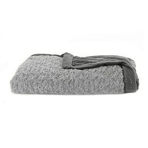 Saranoni Grey / Charcoal Swirl Lush Baby Blanket - Madison-Drake Children's Boutique