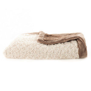 Saranoni Ivory / Tan Swirl Lush Baby Blanket - Madison-Drake Children's Boutique